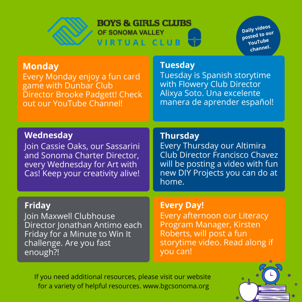 Virtual Club Schedule 2